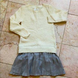 Gab sweater dress great pleated bottom